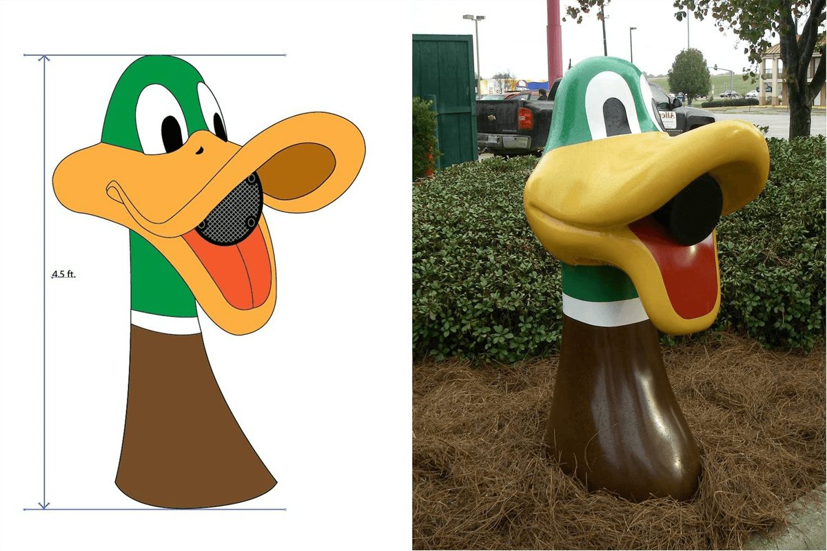 Atlanta Props™ Custom Film Prop - Duck Head Speaker