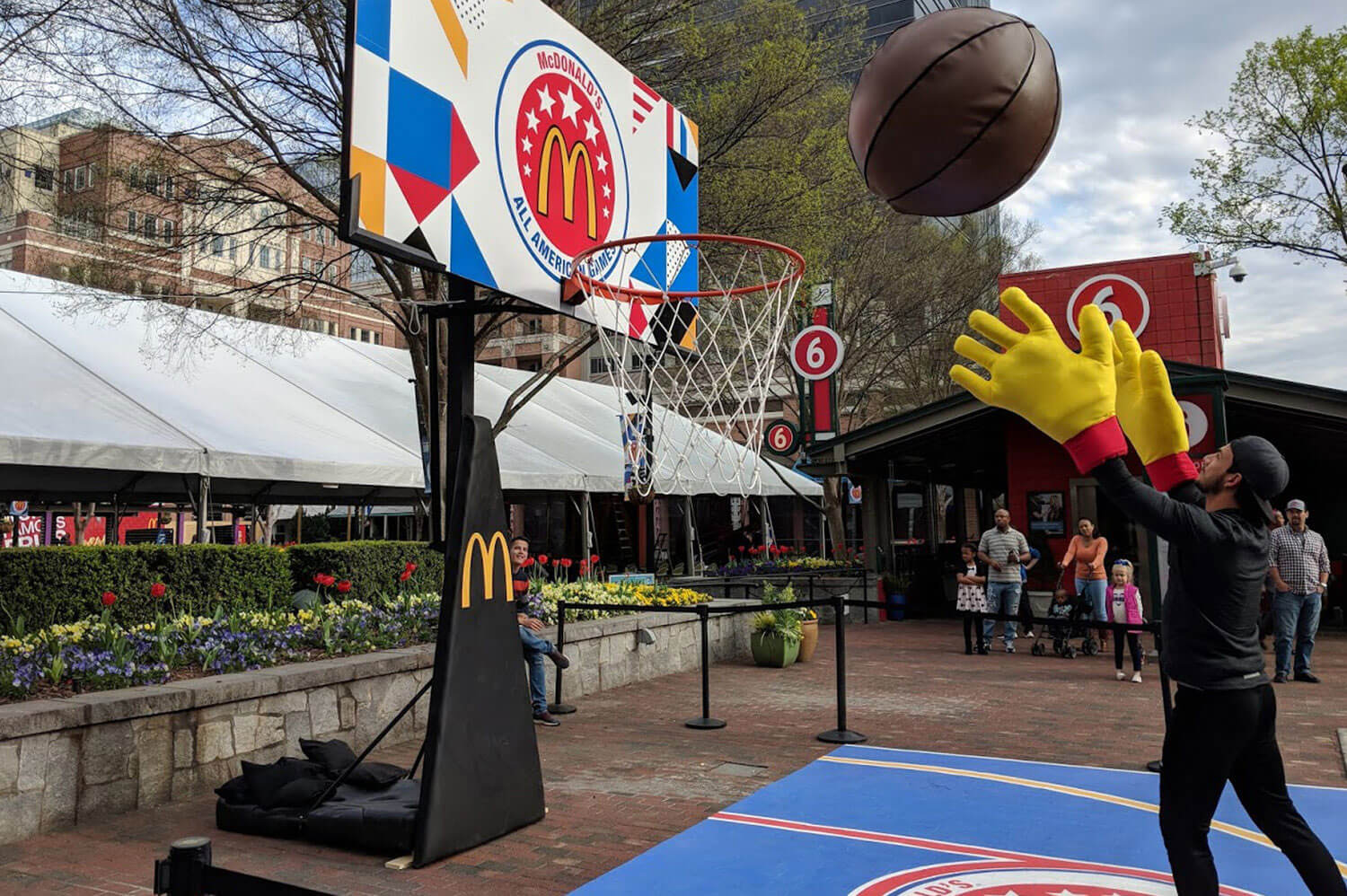 Atlanta Props™ Custom Oversized Props -  Giant Basketball and Hoop for McDonald's Event