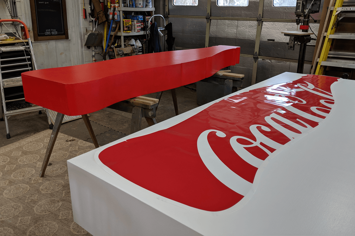 Atlanta Props™ Custom Event and Display Props - Making of Coca Cola Signage