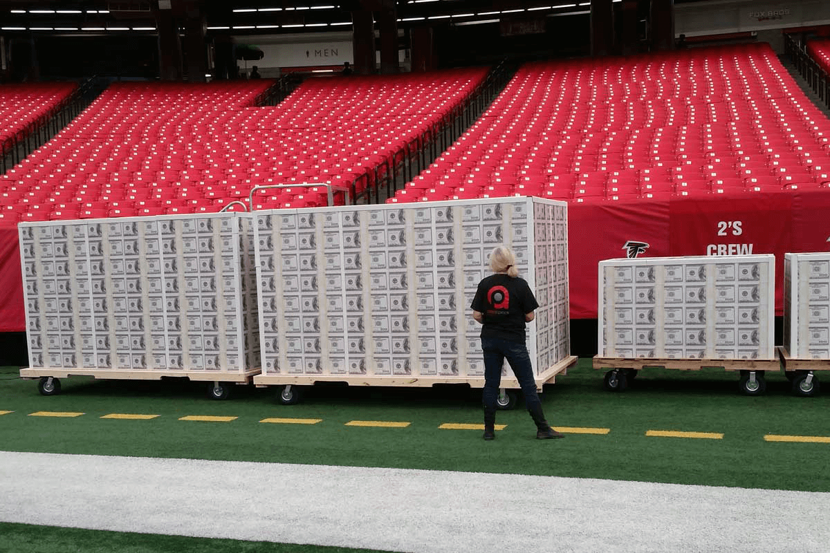 Atlanta Props™ Custom Event and Display Props - Atlanta Falcons Big Bucks
