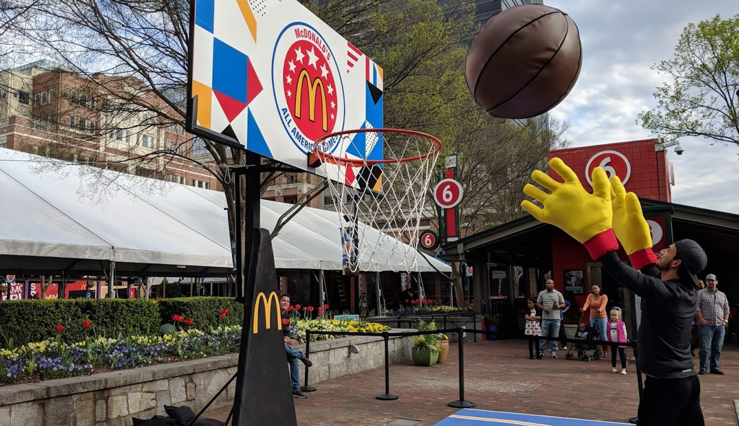 Atlanta Props™ Custom Event and Display Props - Giant Basketball and Hoop for McDonald's Event