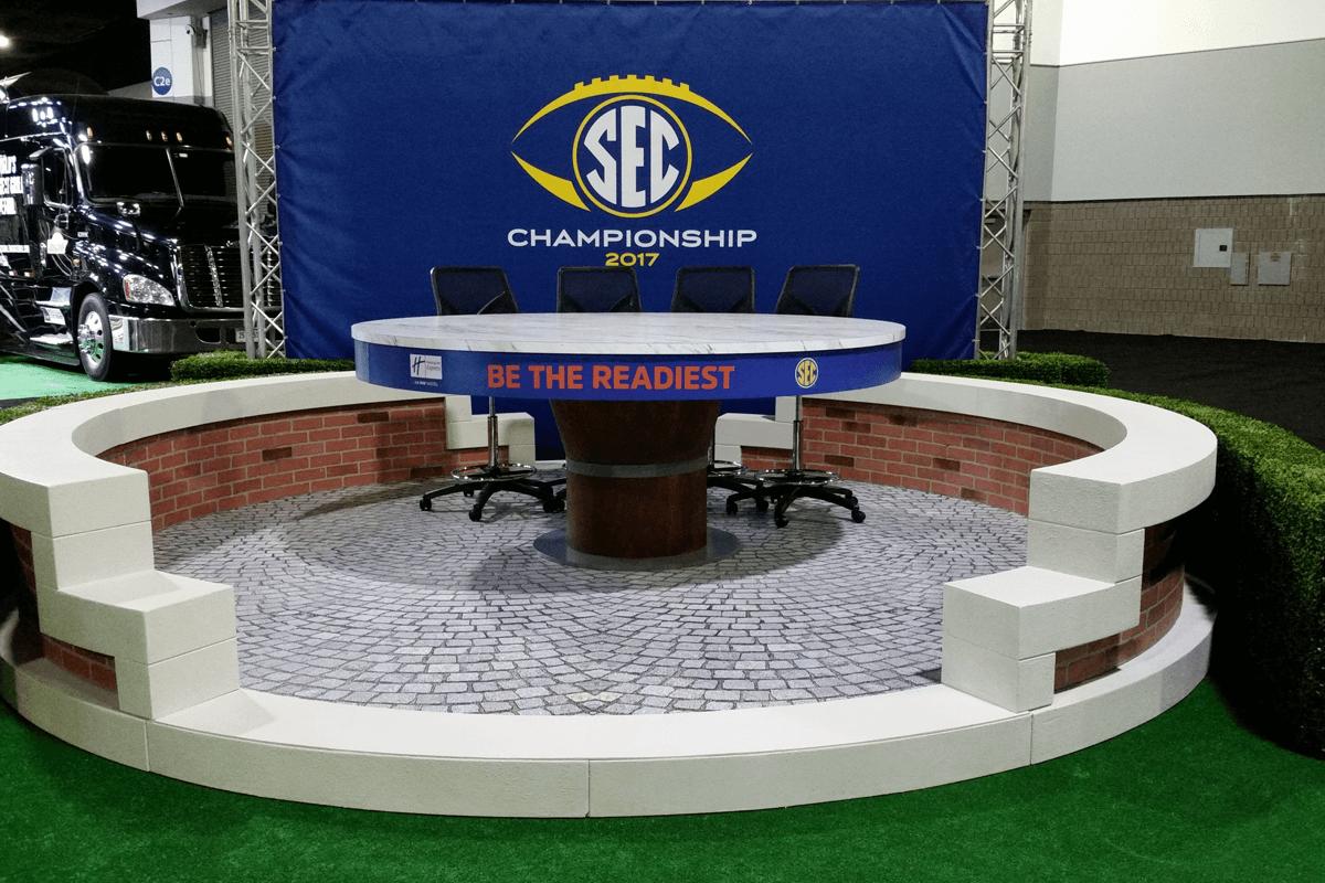 Atlanta Props™ Custom Set and Stage Props - SEC Championship Set at The Georgia World Congress Center