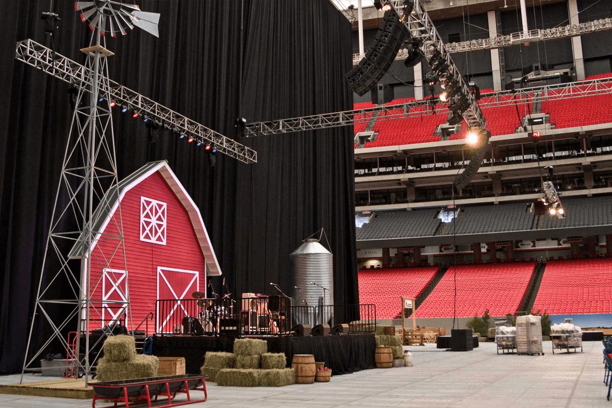 Atlanta Props™ Custom Set and Stage Props - AGCO Farm at Georgia Dome