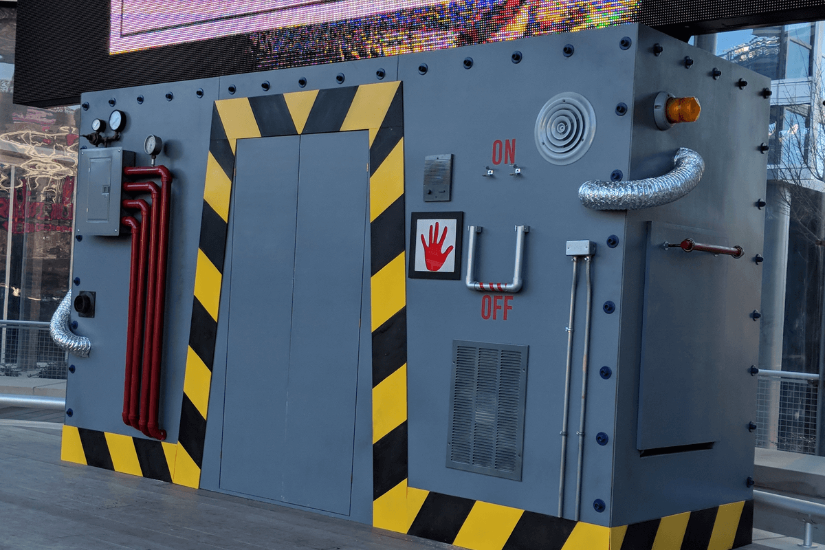 Atlanta Props™ Custom Set and Stage Props - Braves Machine for Mascot Reveal