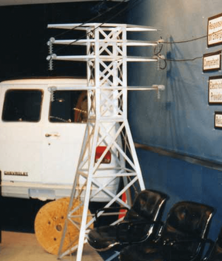 Atlanta Props™ Custom Advertising Pitch Props - Electric Tower for Electrical Company