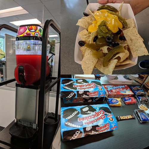 🥤 711-themed happy hour at 3Sharp HQ!