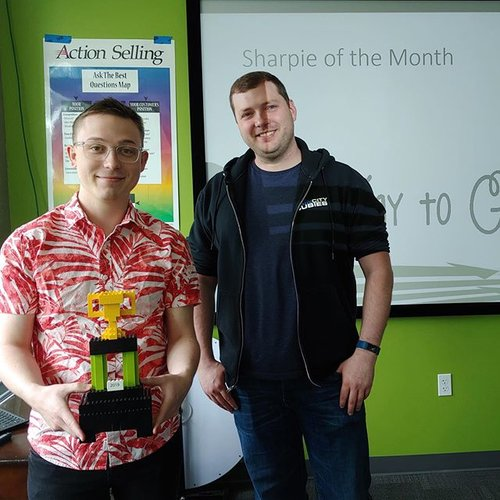 🎉 Congratulations to the May Sharpie of the month: Kyle!  Thank you for your help on one of the company's biggest current projects and for your willingness to jump on new tasks. We appreciate you!