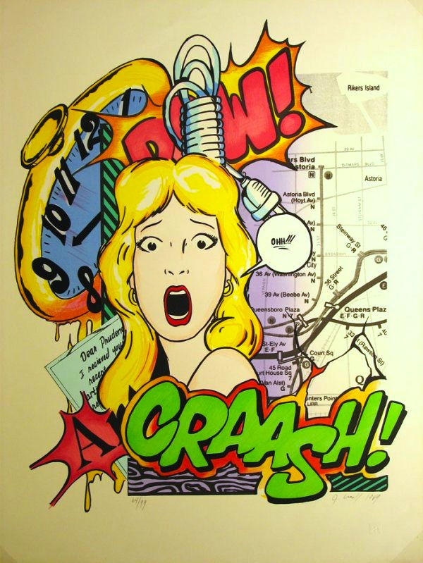 "CRASH  Dear Prudence Artist Proof , 1989 Screenprint  36"" x 28.5""  Price upon request"