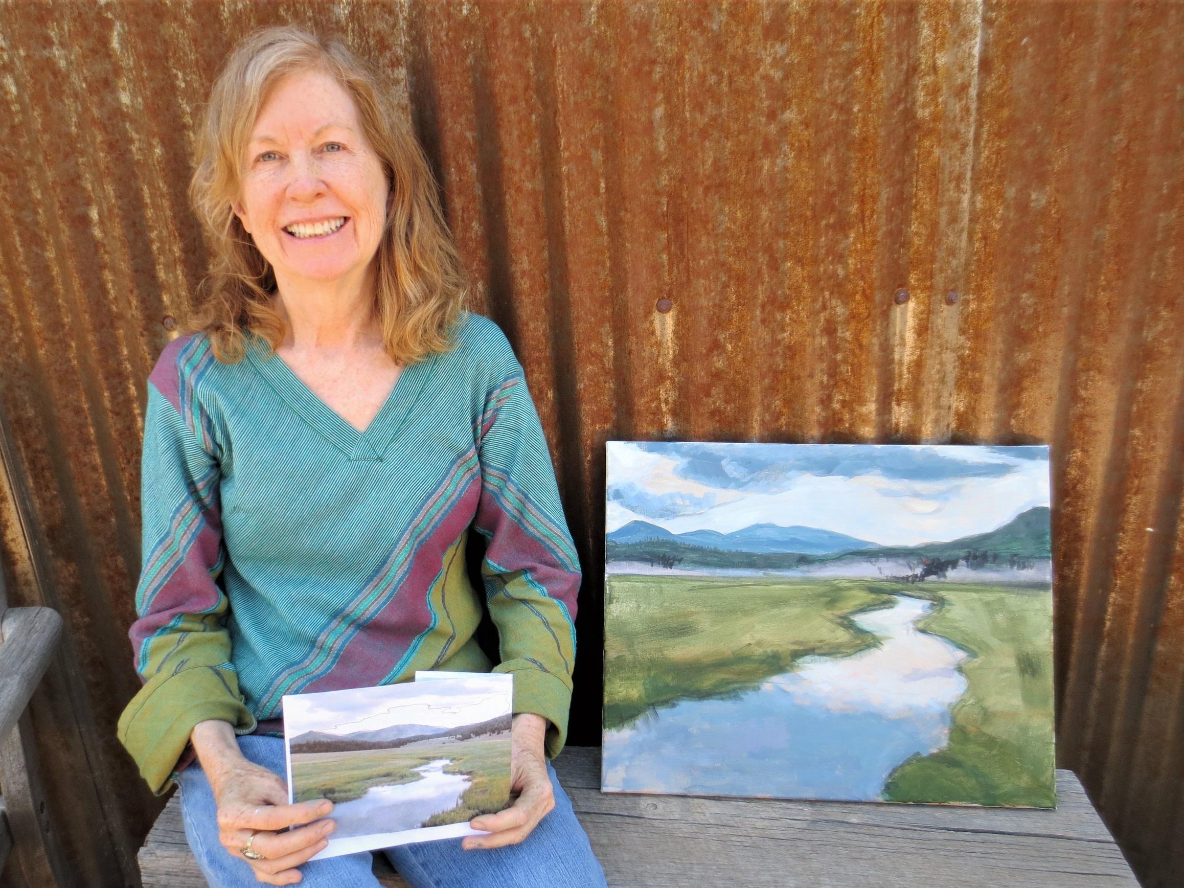 A student's painting after a 4-hour Landscape workshop with Ellen Sklar-Abbott, one of our instructors.