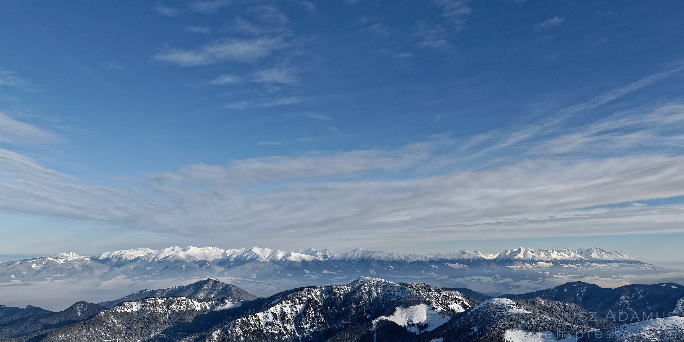 Tatra Mountains from Chopok