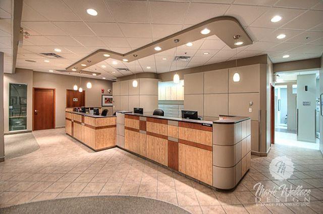 Multi-station dental reception desk. #dentaldesign #dental #reception #yycdesign #yyc #customdesign #design #interiordesign #interiordesigner