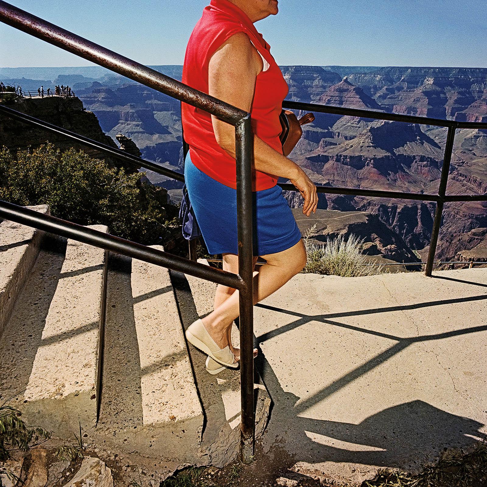 Woman Arriving at South Rim, Grand Canyon National Park, Arizona 1980