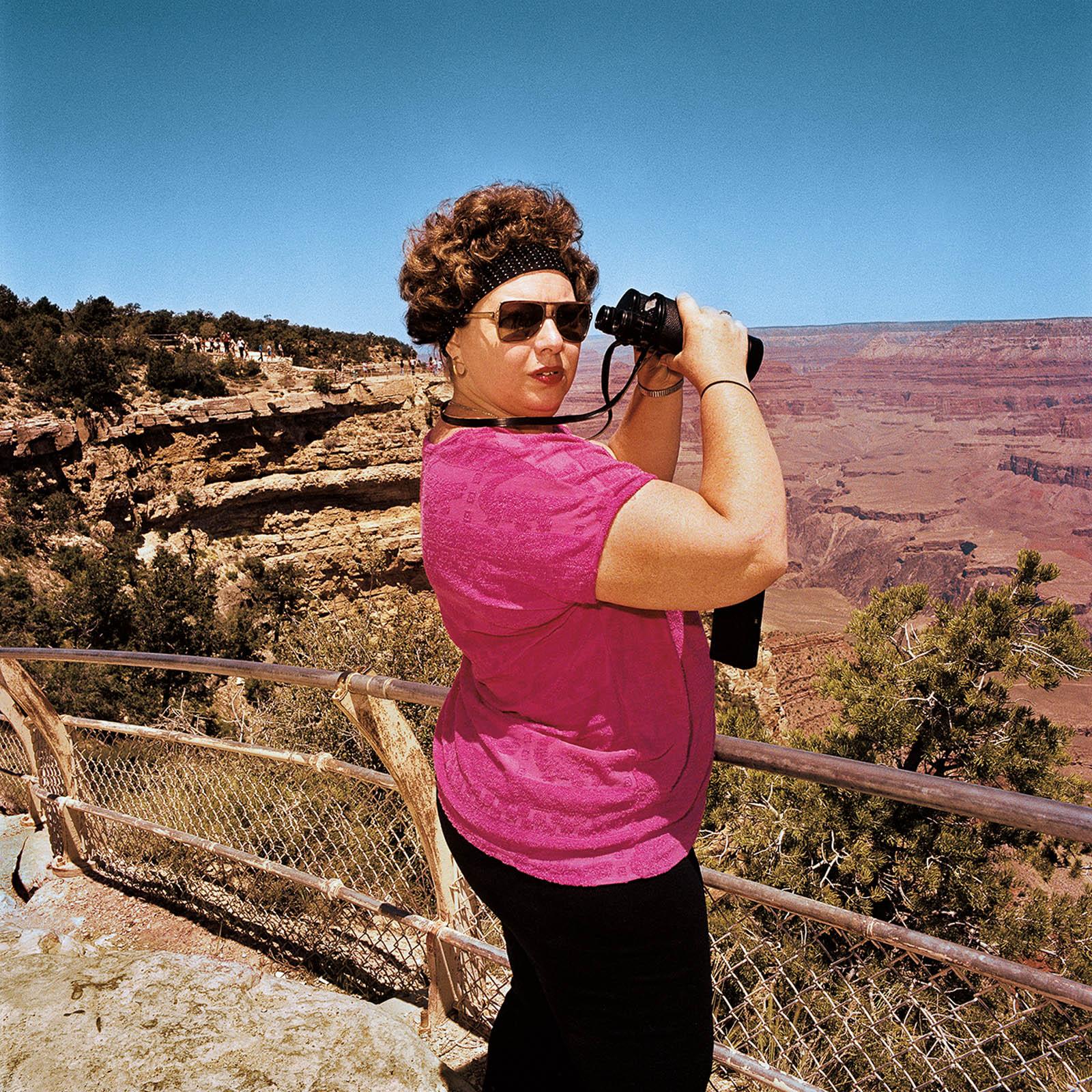 Woman at Grand Canyon National Park, Arizona 1980