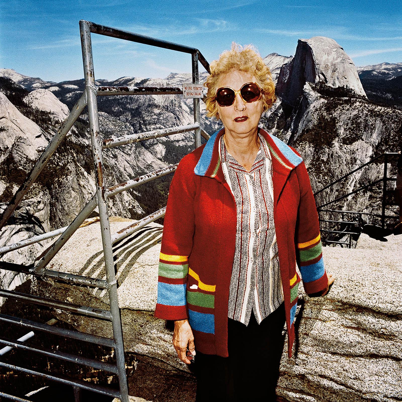 Woman at Glacier Point, Yosemite National Park, California 1981