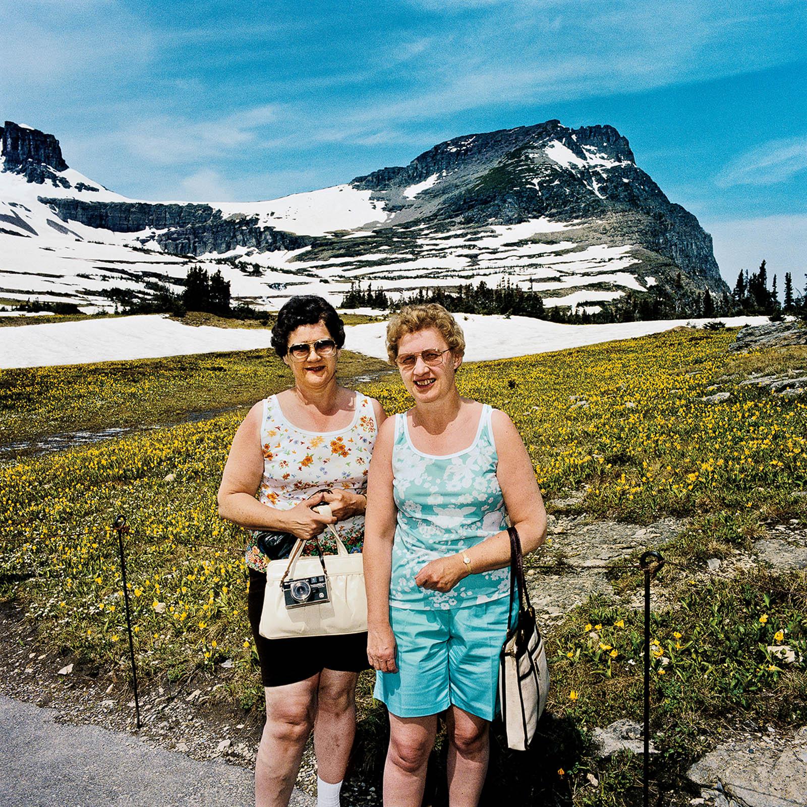 Two Women at Logan Pass, Glacier National Park, Montana 1980