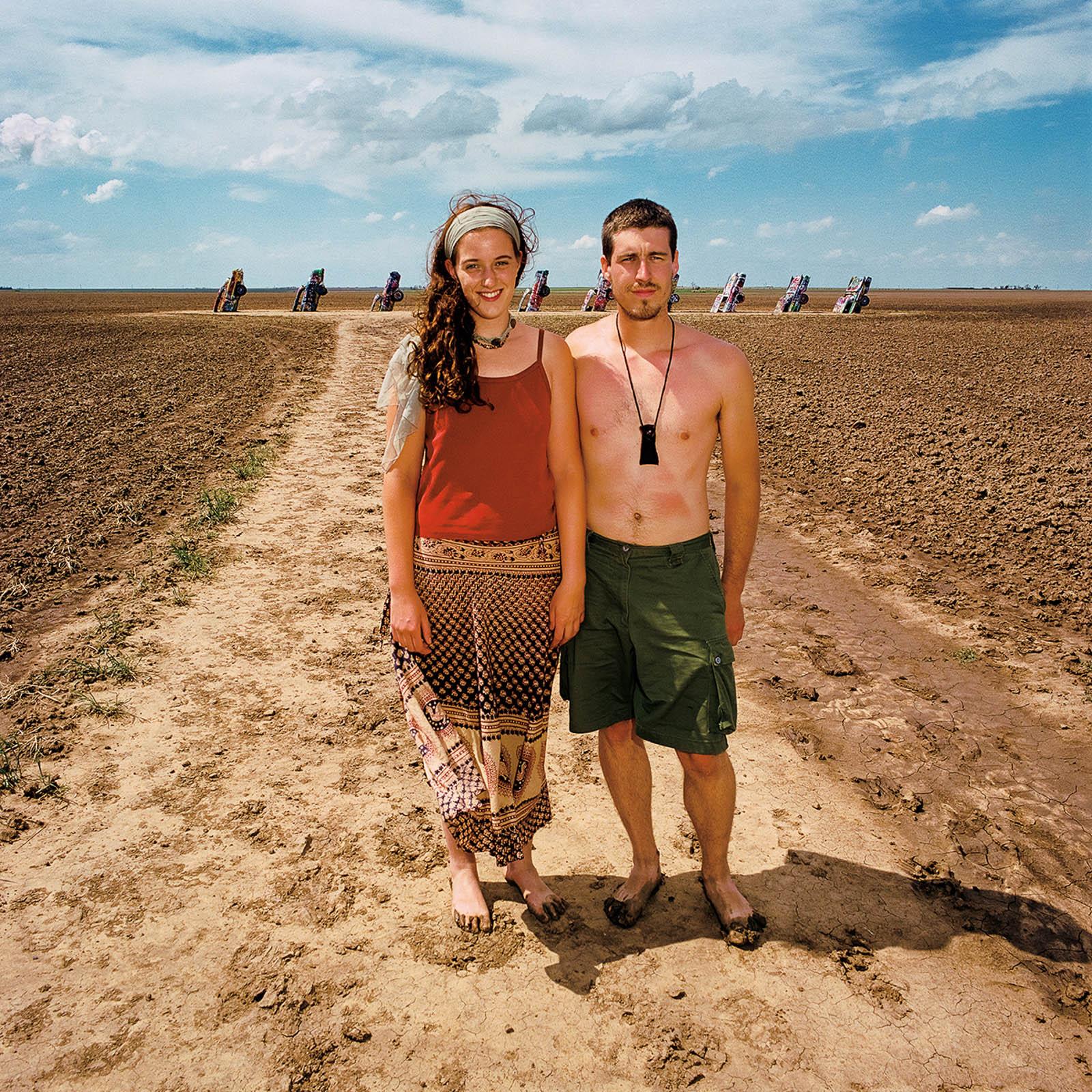 Couple at Cadillac Ranch, Amarillo, Texas 1998