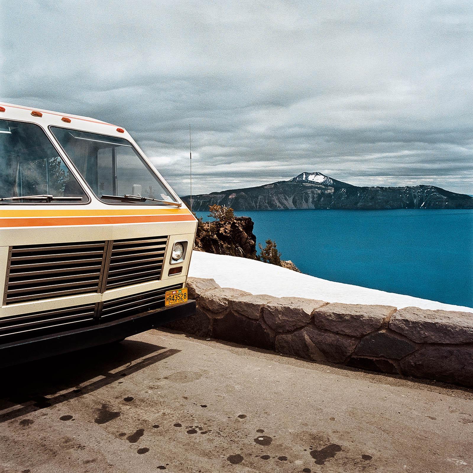 Motorhome at Crater Lake National Park, Oregon 1980