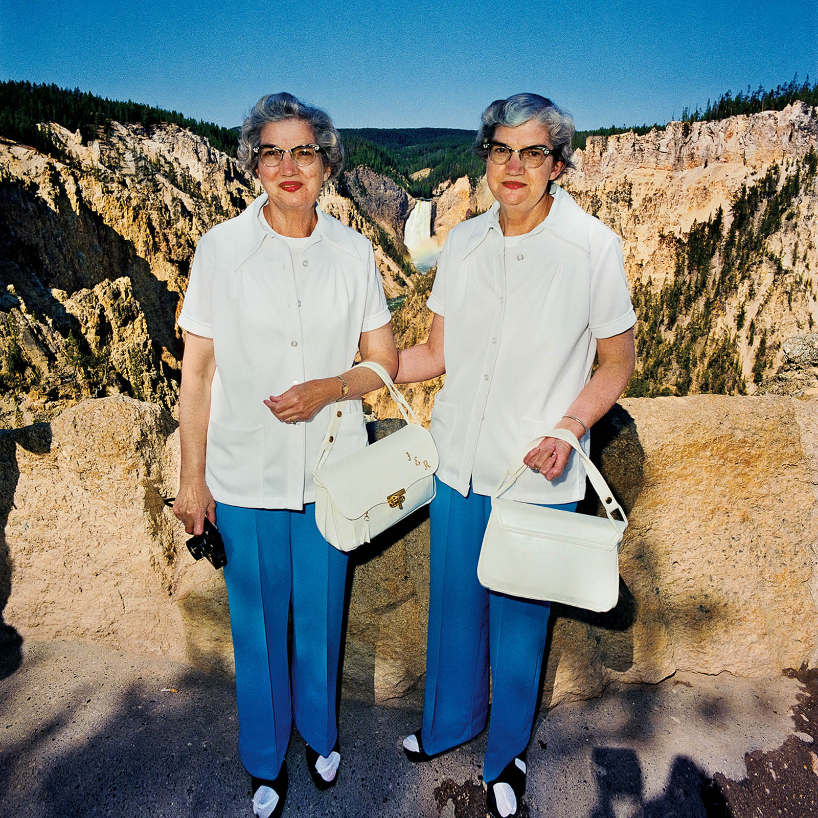 Twins at Lower Falls, Yellowstone National Park, Wyoming 1980