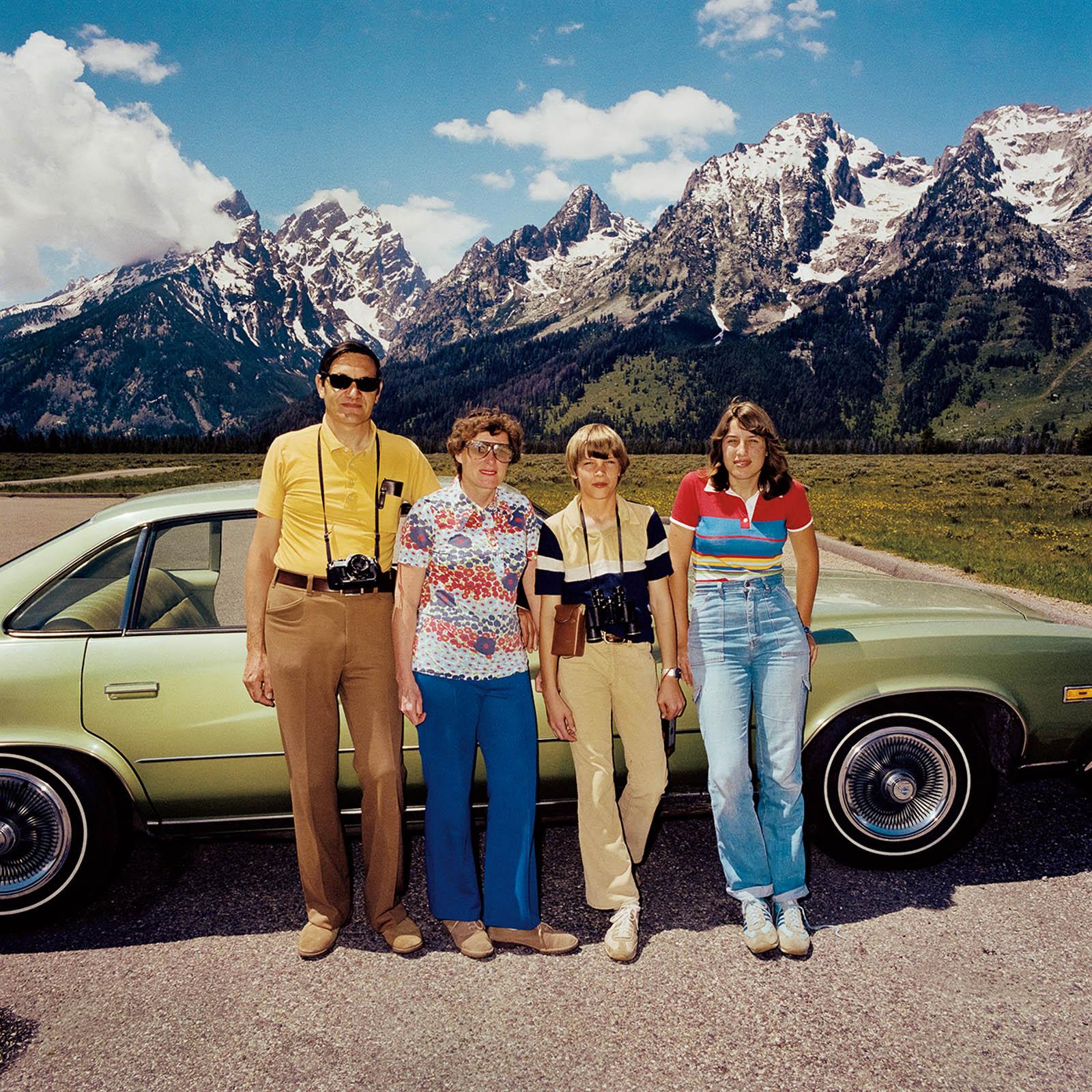 Family at Grand Tetons National Park, Wyoming 1980