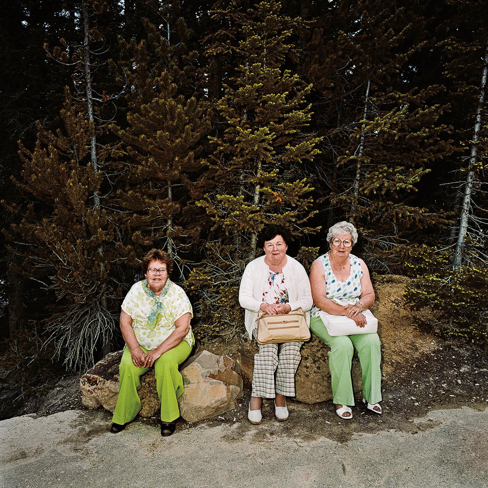 Three Women at Yellowstone National Park, Wyoming 1980