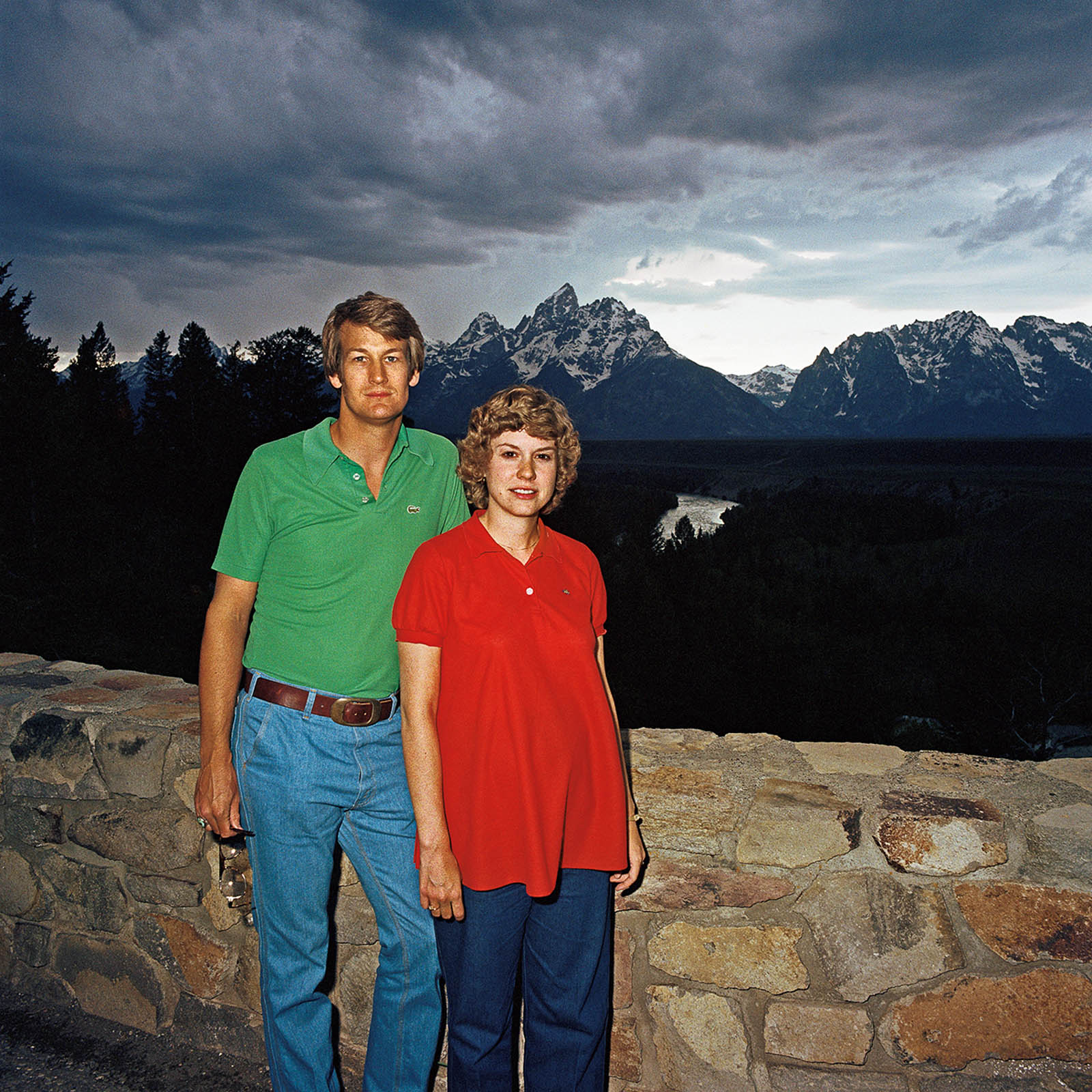 Couple at Snake River, Grand Tetons National Park, Wyoming 1980