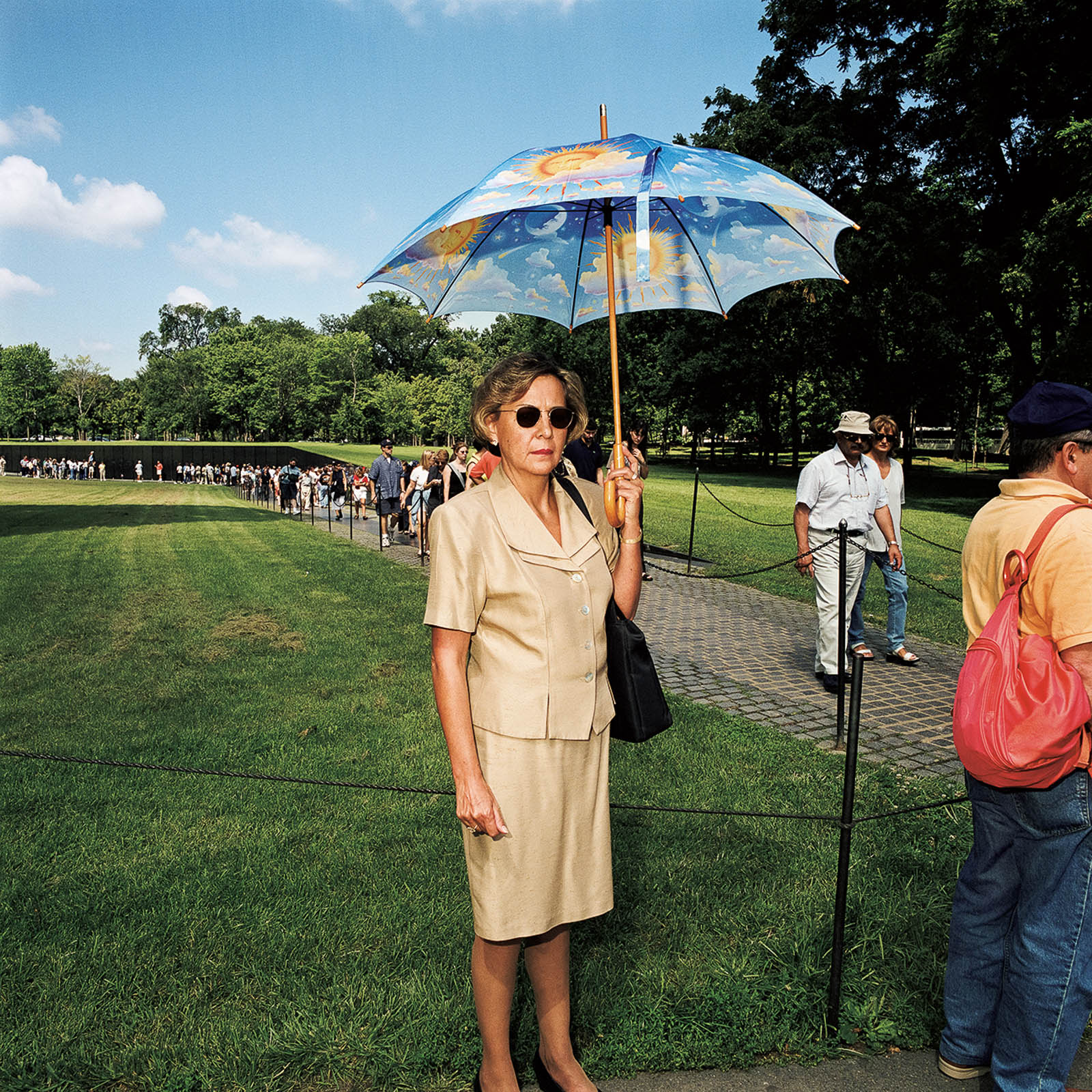 Woman at Vietnam Memorial, Washington, DC 2000