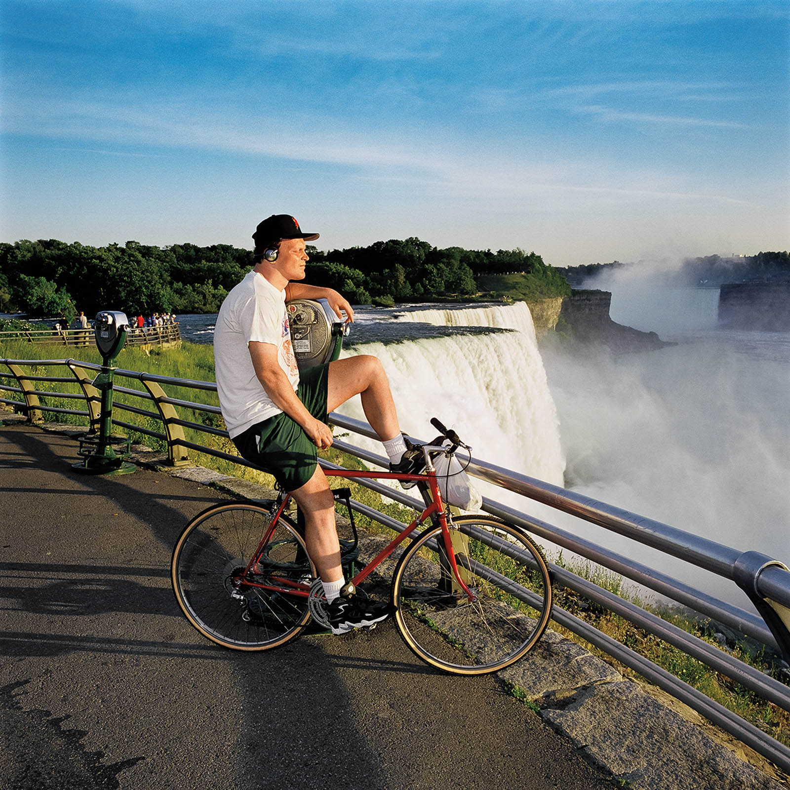 Bicyclist at Niagara Falls State Park, New York 1999