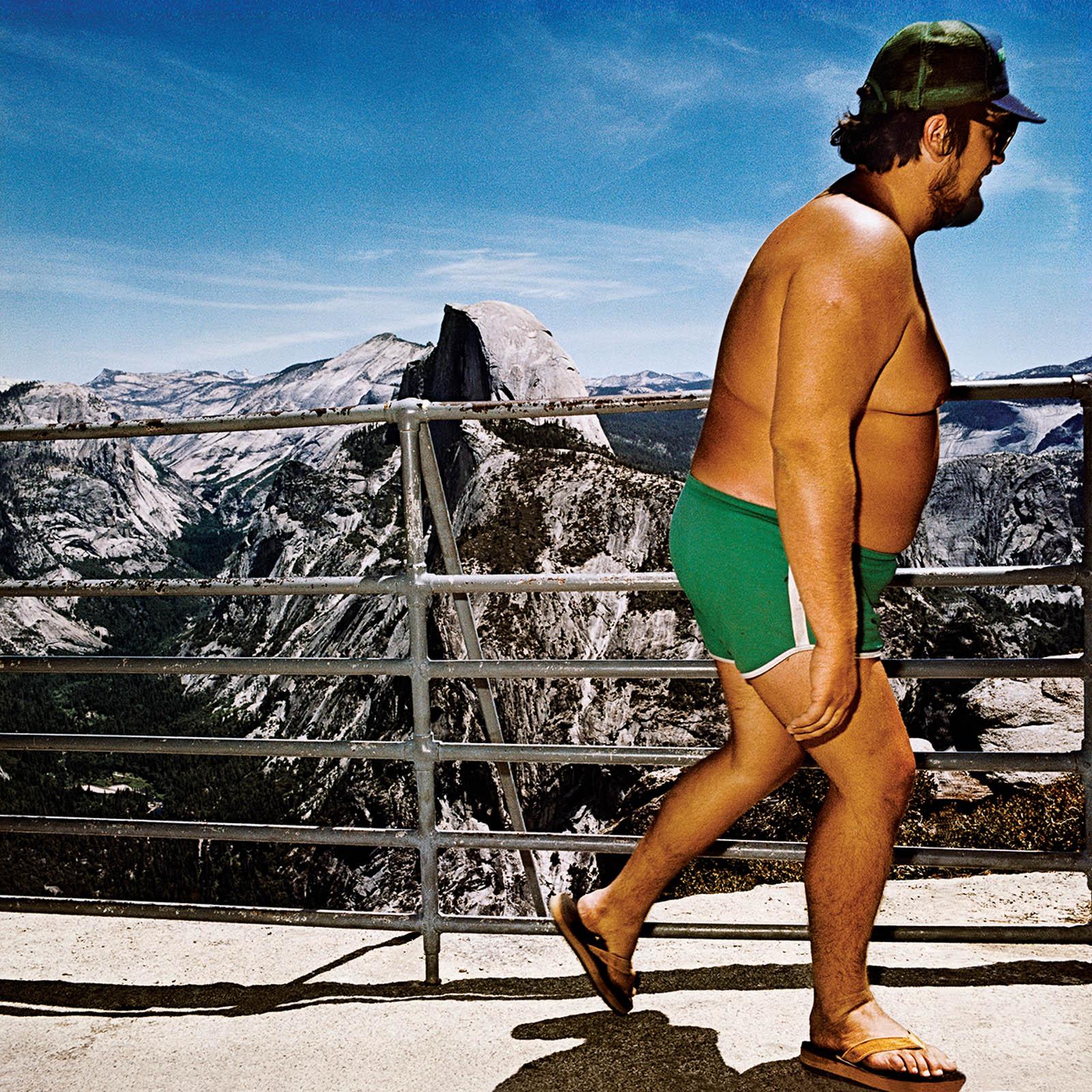 Shirtless Man at Glacier Point, Yosemite National Park, California 1980