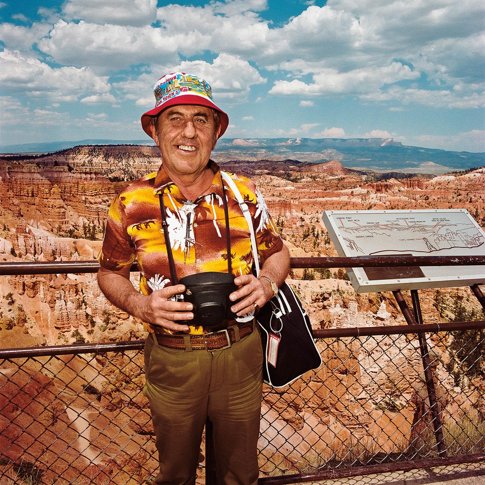 Man at Bryce Canyon National Park, Utah 1980
