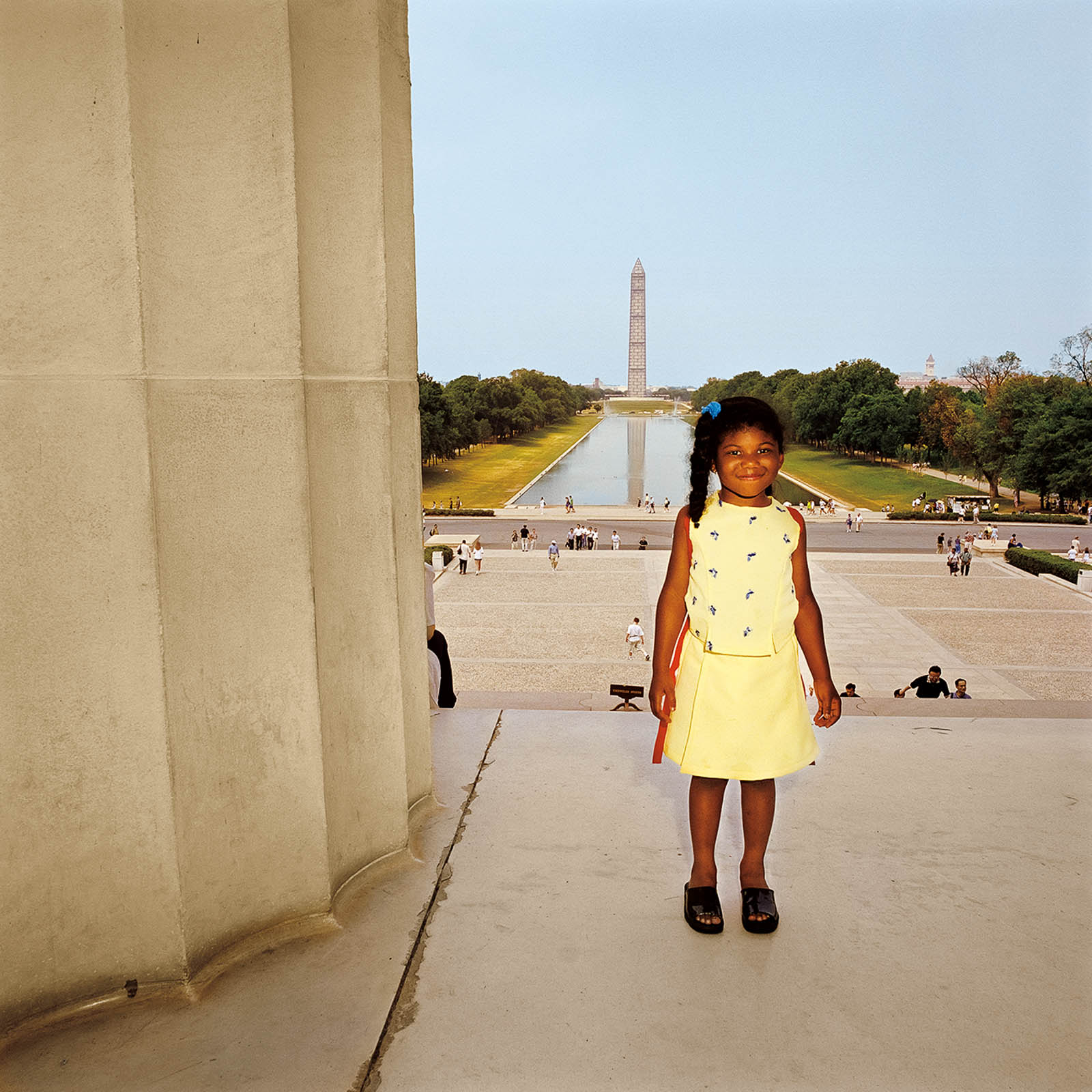 Young Girl at Lincoln Memorial, Washington, DC 1999