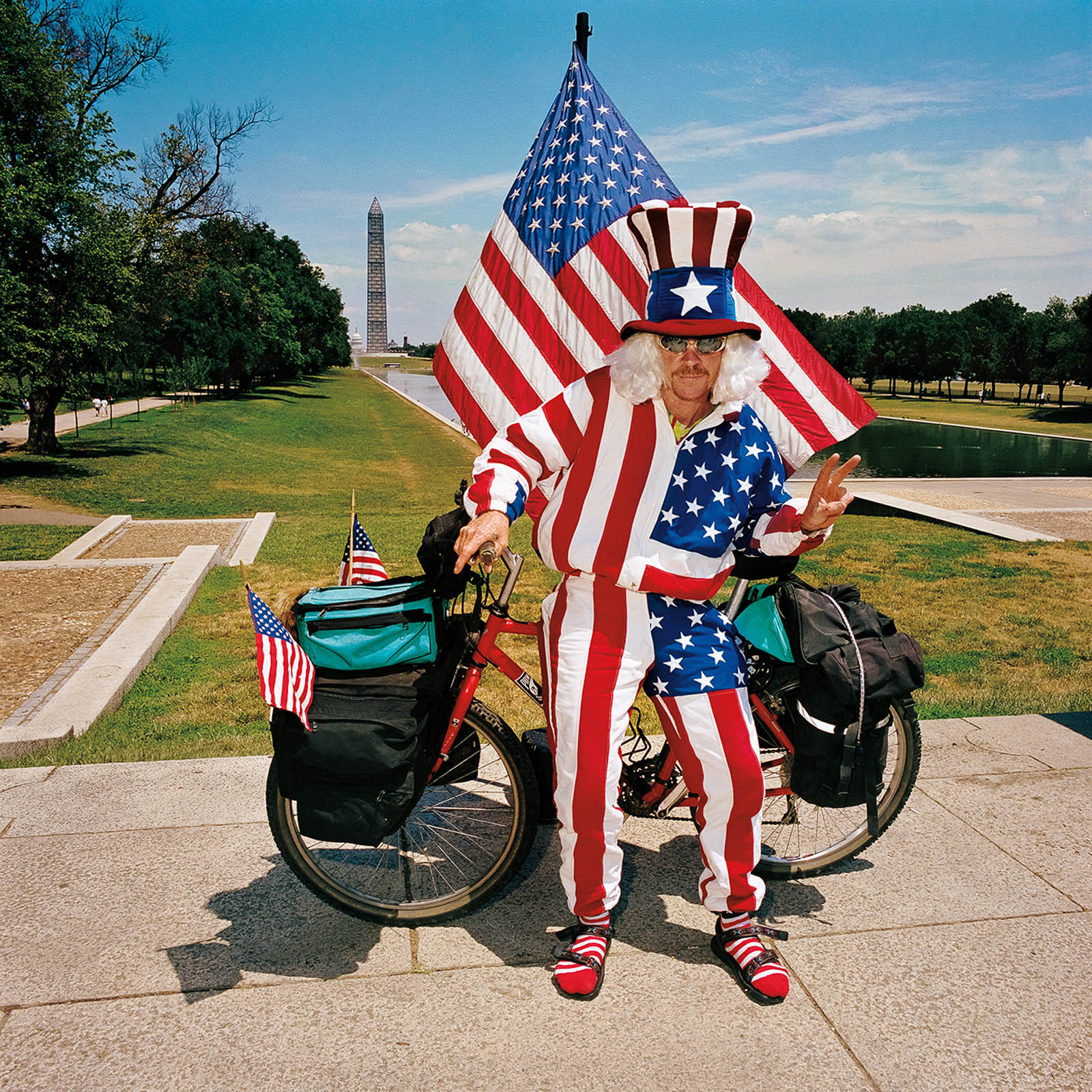 Flag Man at The Mall, Washington, DC 1999