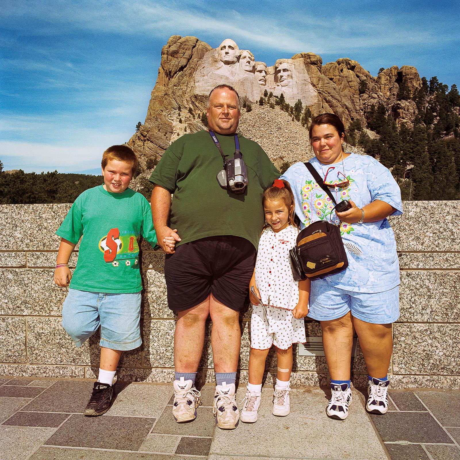 Family at Mt Rushmore, South Dakota 1998