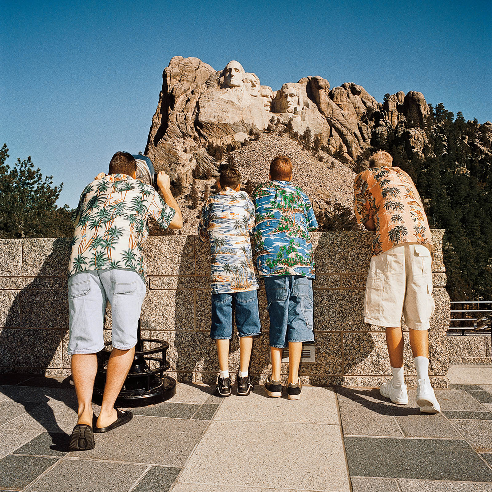 Family Viewing Mt Rushmore, South Dakota 1998