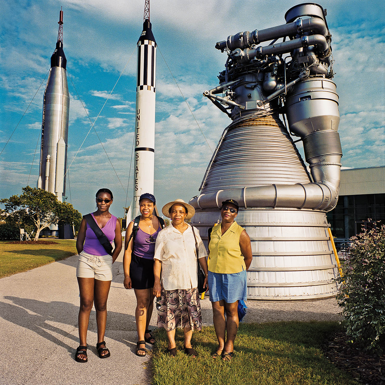 Family at Kennedy Space Center, Cape Canaveral, Florida 2000