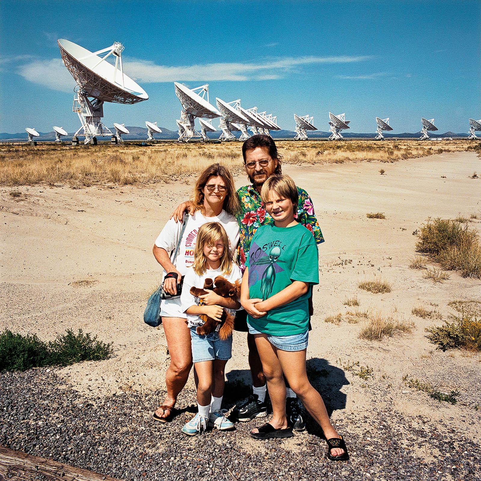 Family at Very Large Array Telescopes, New Mexico 2000