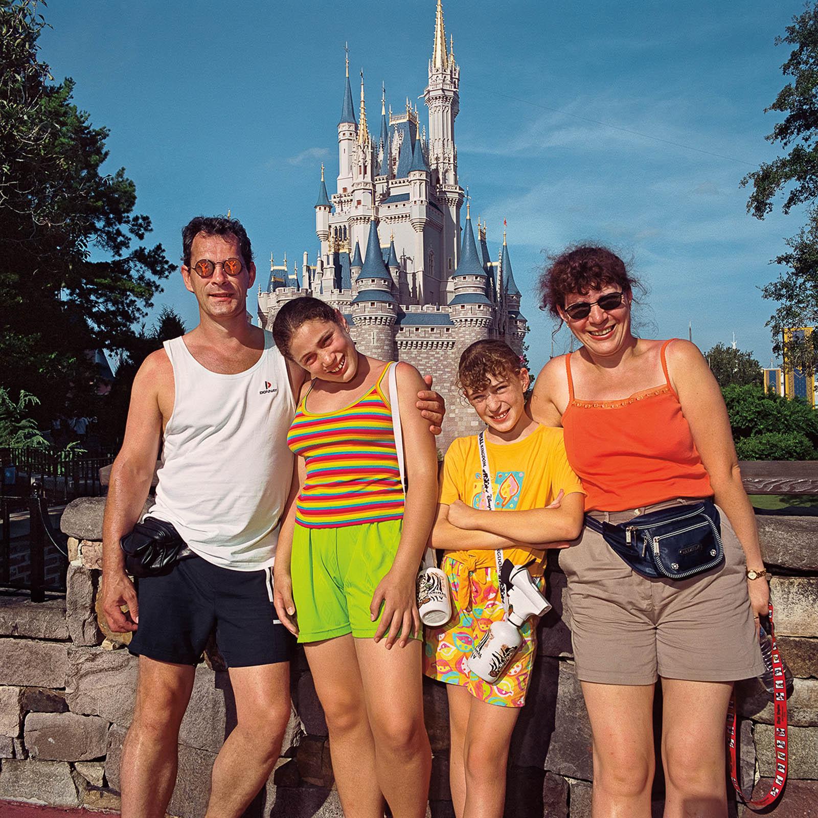 Family at Disneyworld, Florida 2000