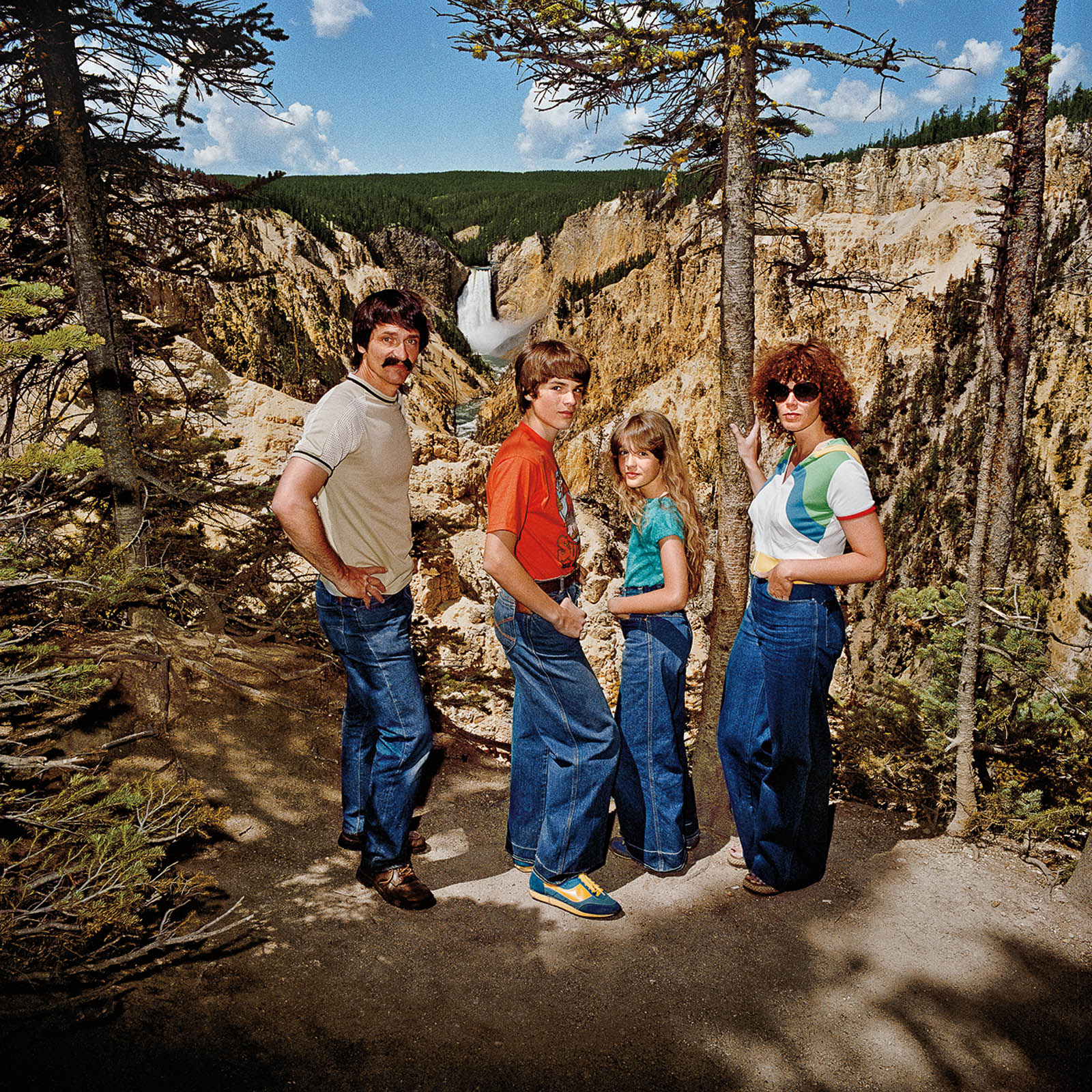 Family at Lower Falls, Yellowstone National Park, Wyoming 1980