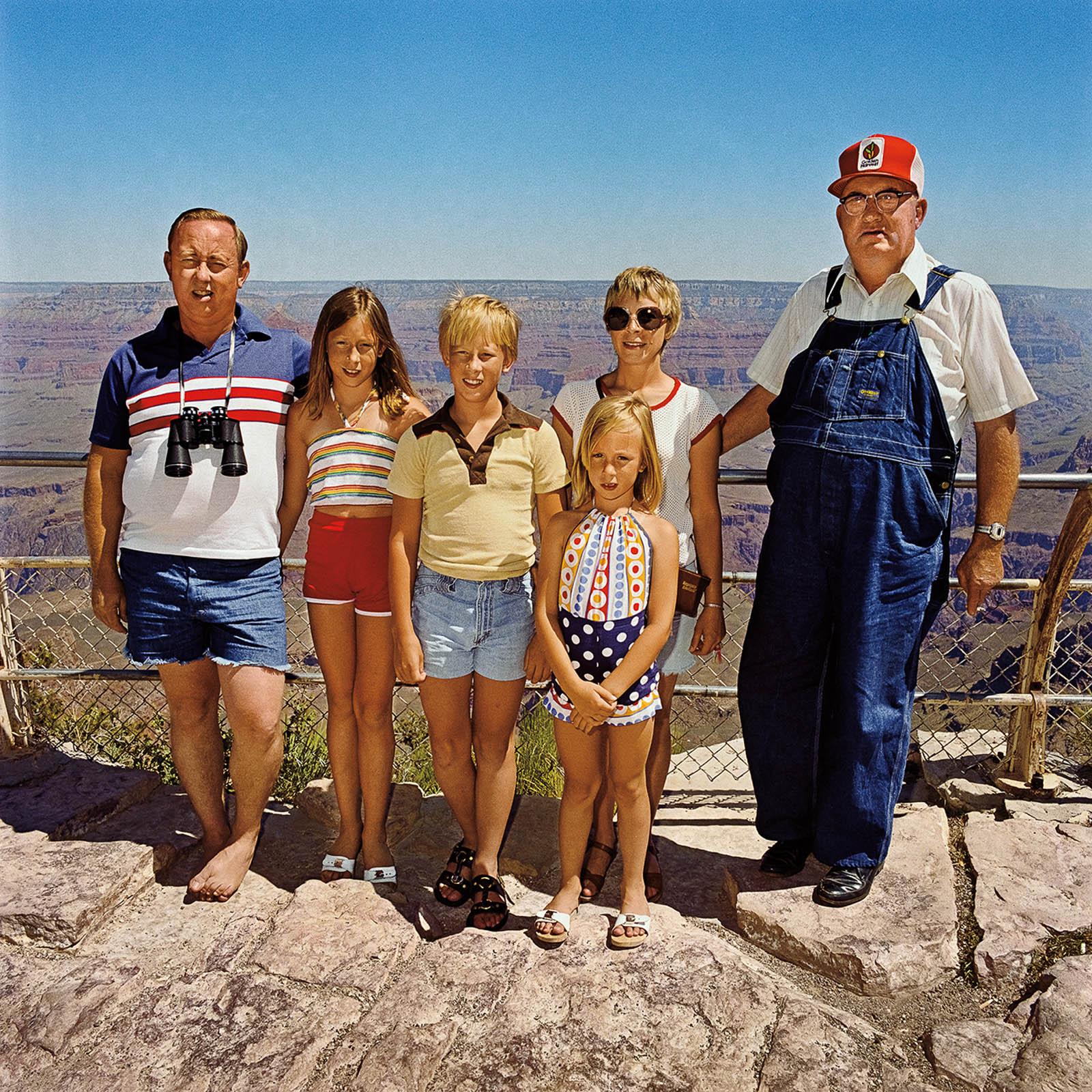 Family with Grandpa, Grand Canyon National Park, Arizona 1980