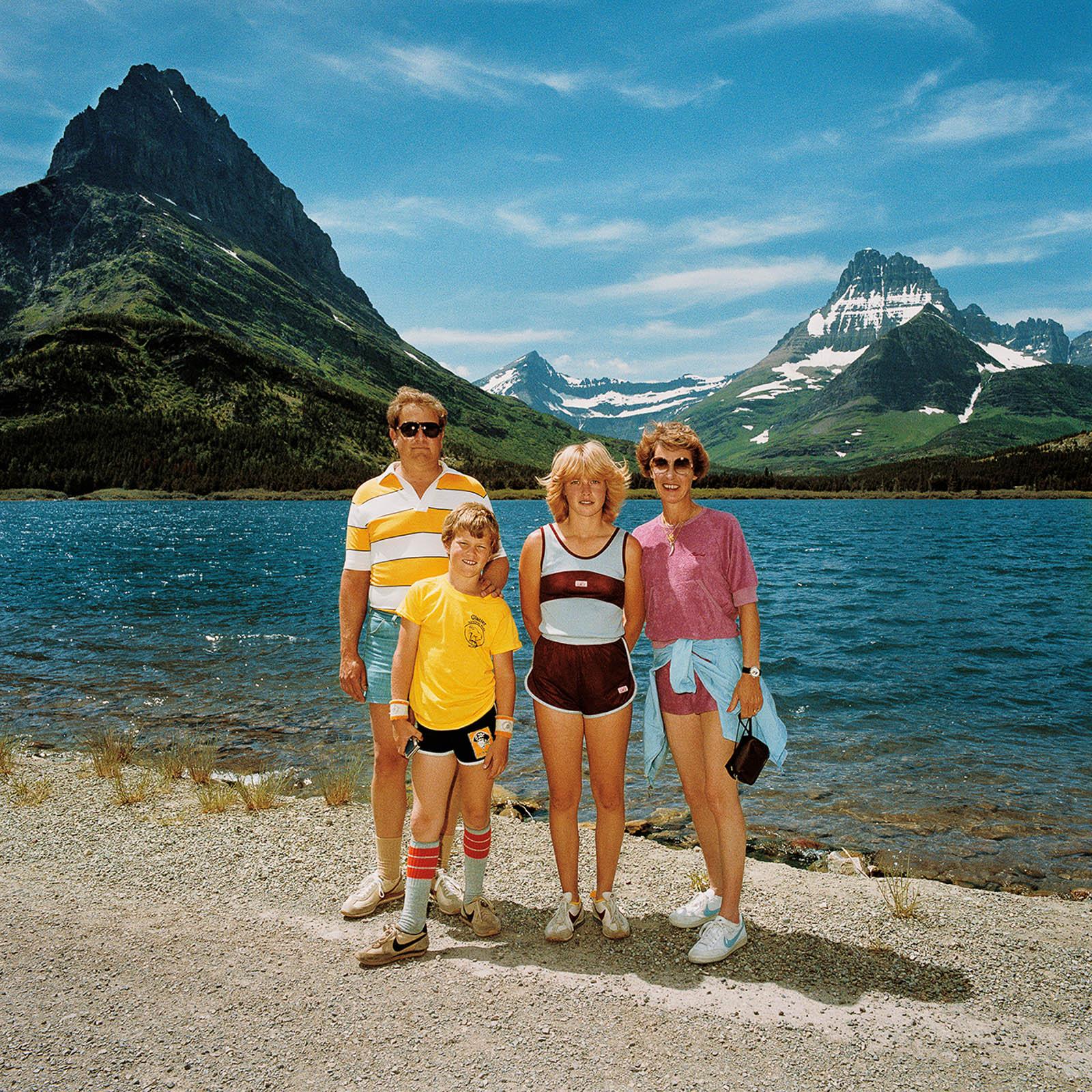 Family at Many Glacier, Glacier National Park, Montana 1981