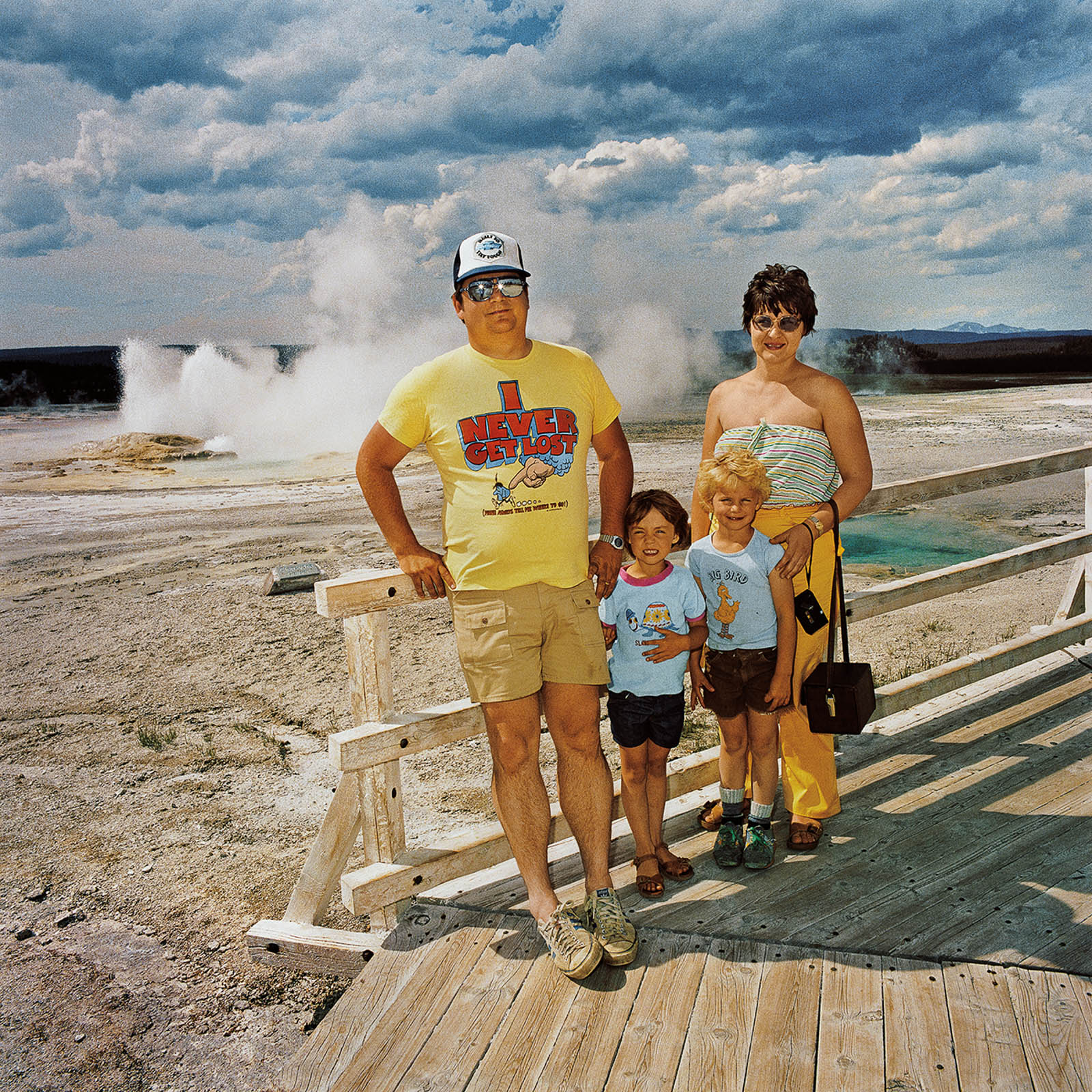 Family at Midway Geyser Basin, Yellowstone National Park, Wyoming 1980