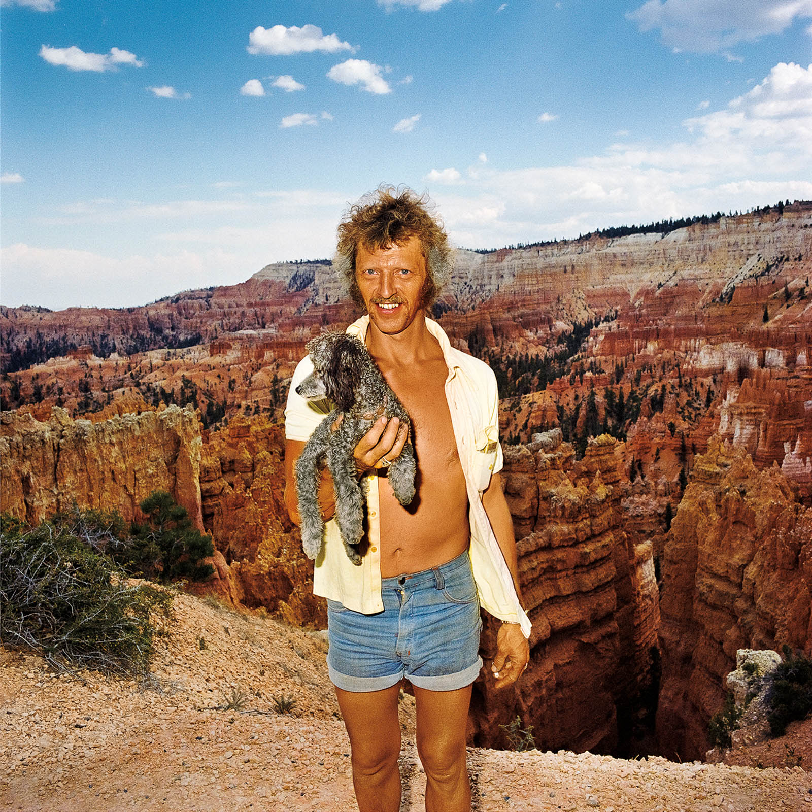 Man Holding Poodle, Bryce Canyon National Park, Utah 1980