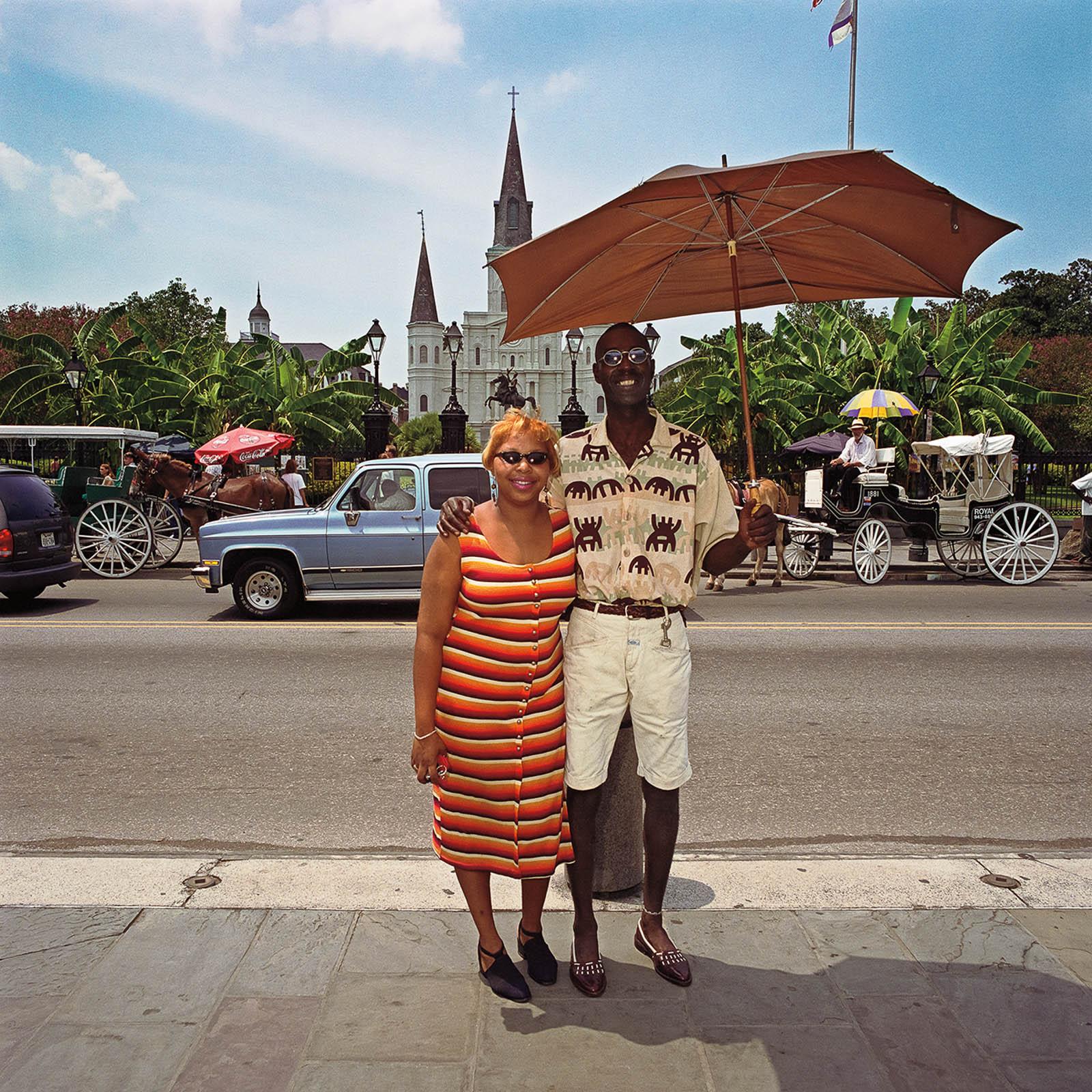 Couple at Jackson Square, New Orleans, Louisiana 2000
