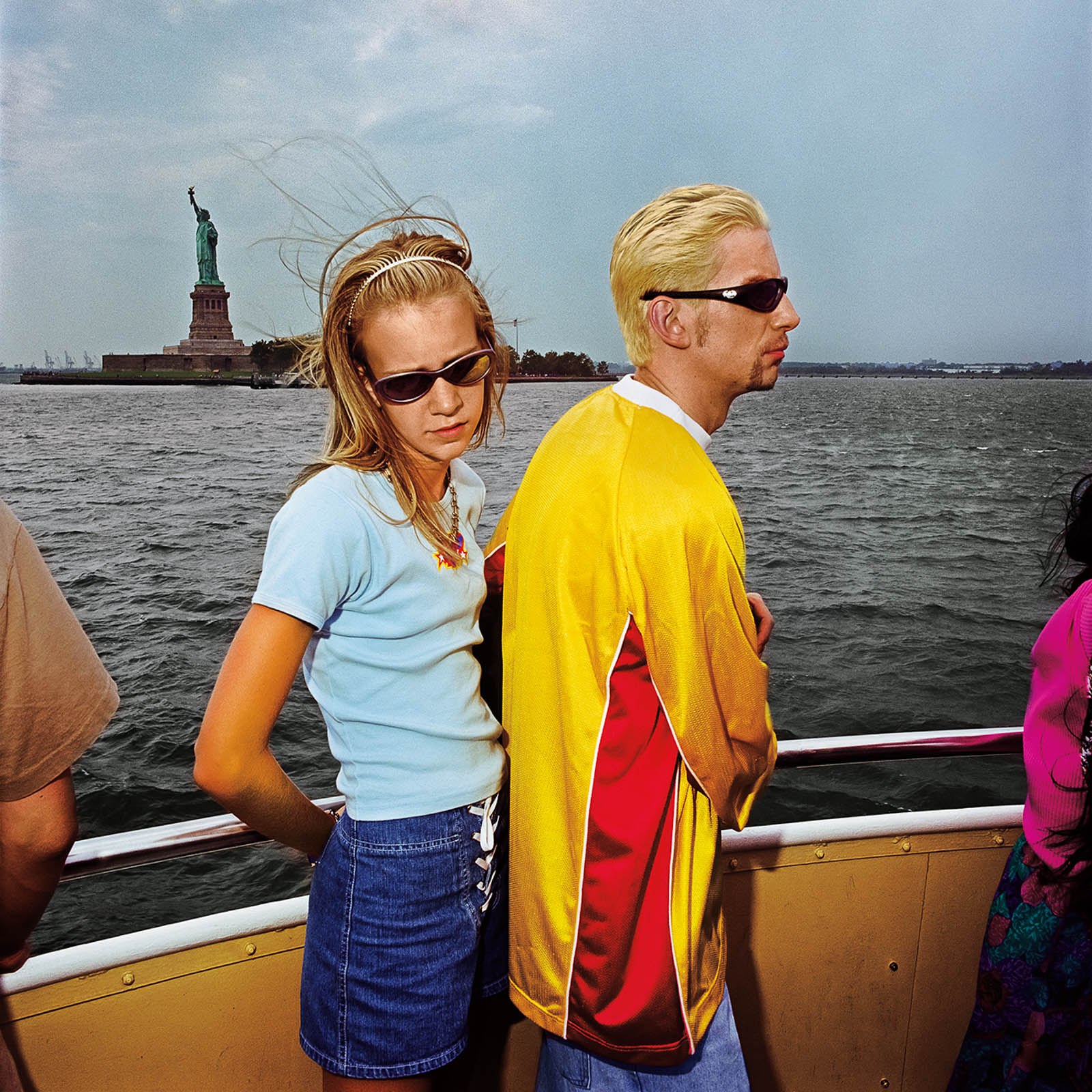 Couple on Ferry to Statue of Liberty Island, New York 2000