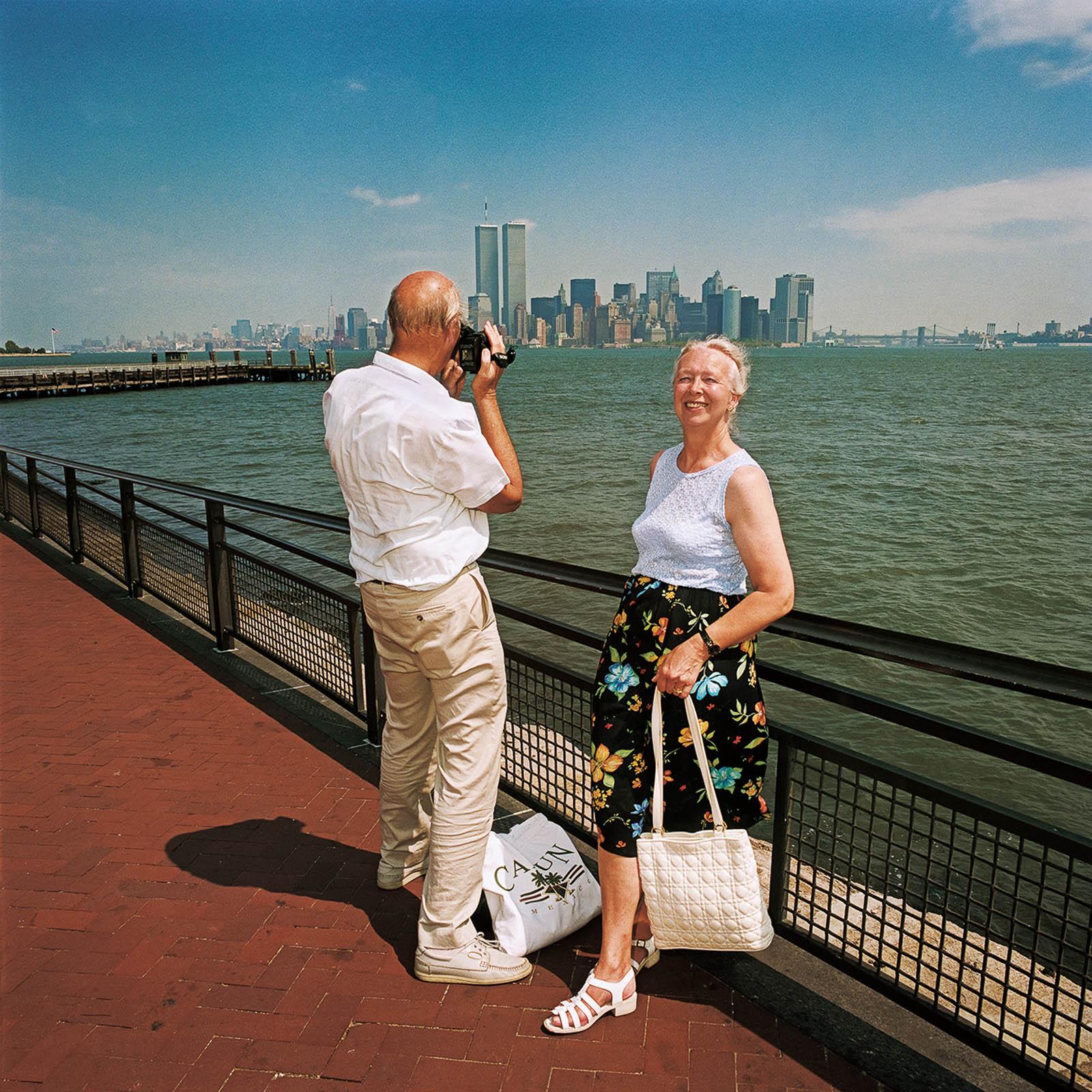 Couple at Statue Liberty Island, New York 2000