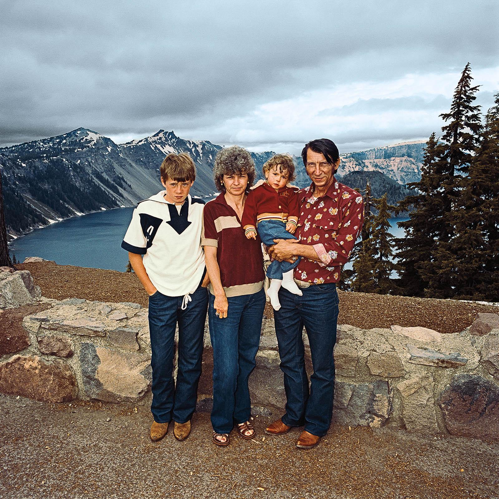 Family at Crater Lake National Park, Oregon 1980