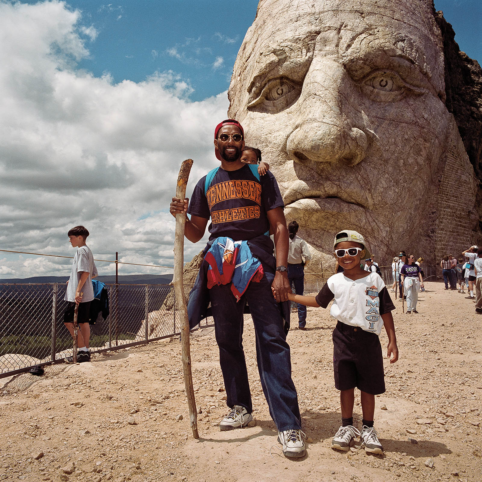 Father & Son at Crazy Horse Monument, South Dakota 1999