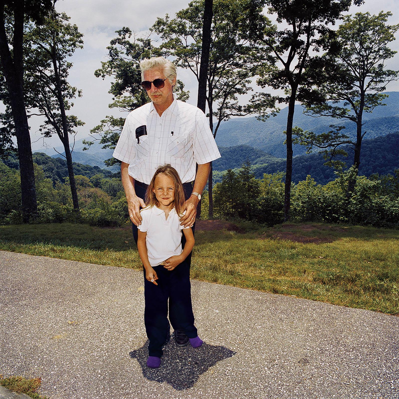 Grandfather & Granddaughter at Great Smoky Mountains, North Carolina 1999