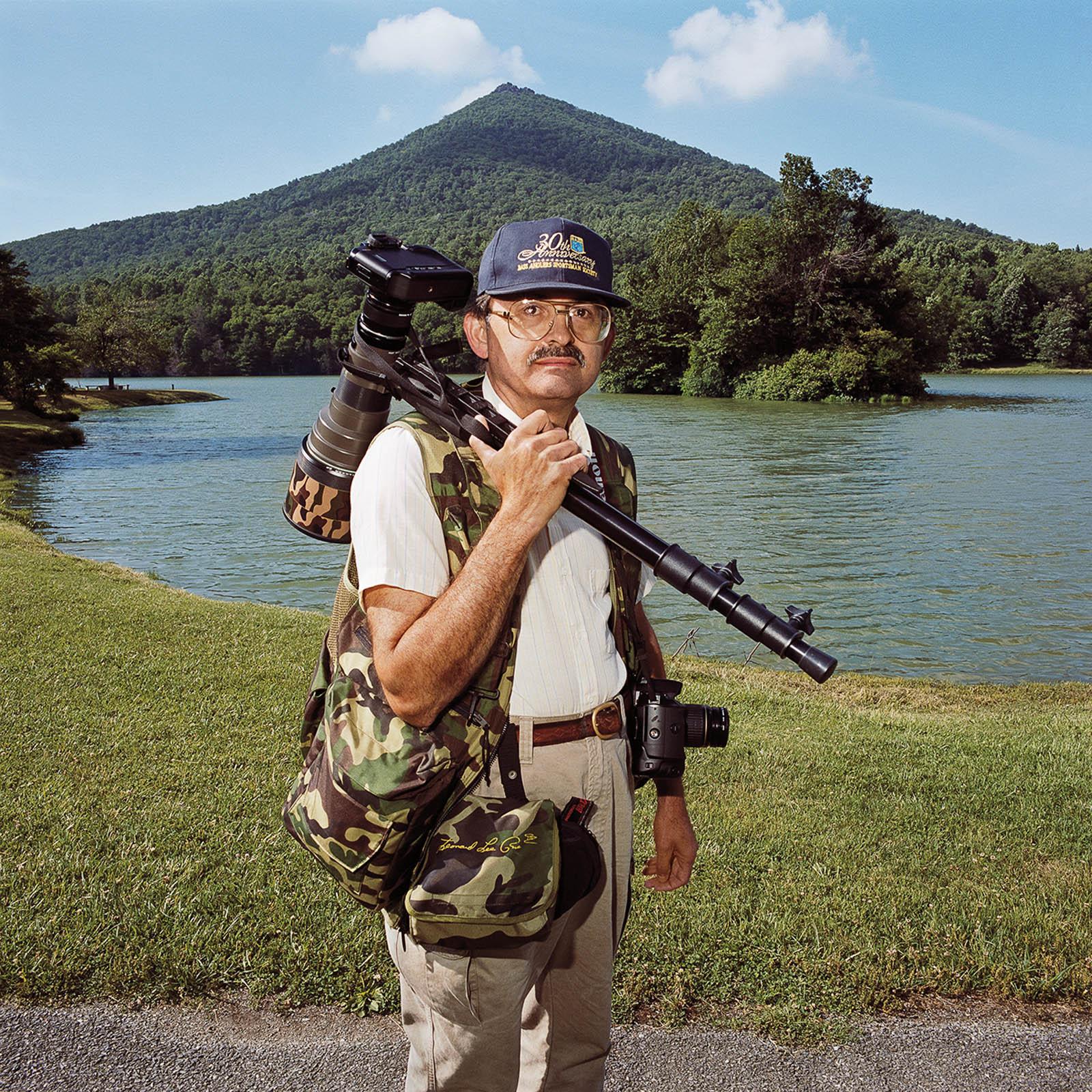 Birder at Peaks of Otter, Blue Ridge Parkway, Virginia 1999