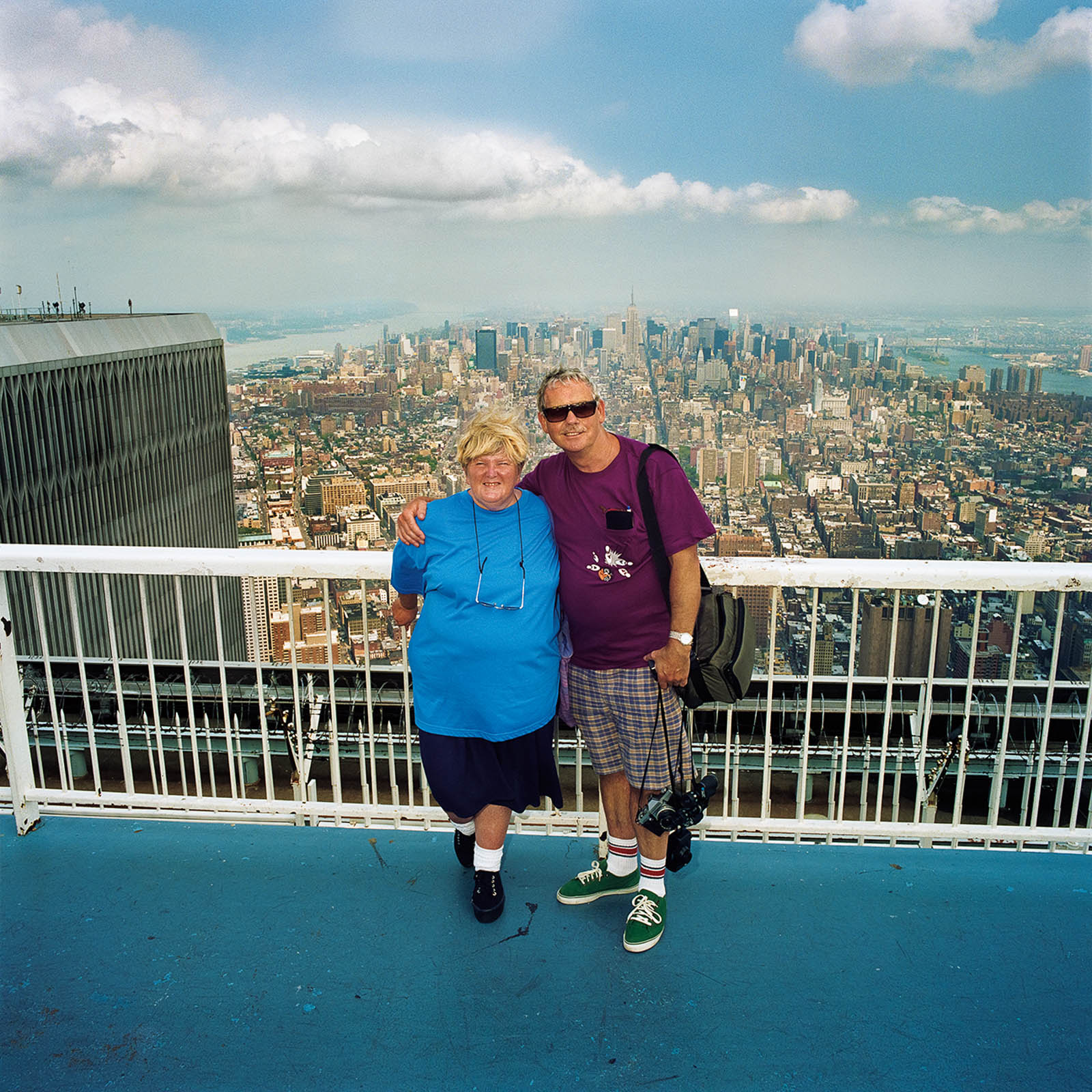 Couple Atop South Tower, New York City 2000