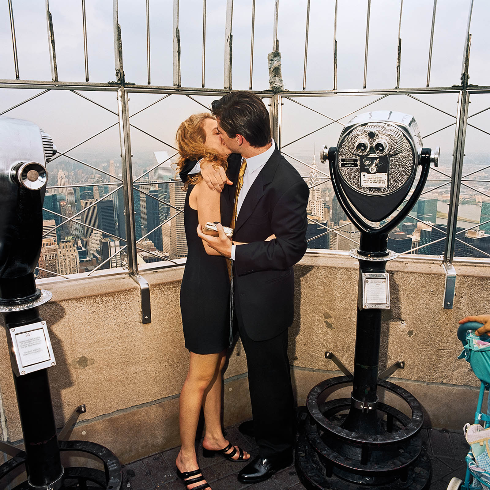 Couple Kissing Atop Empire State Building, New York City 2000